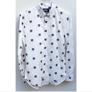 Bonobos Tailored Slim Fit Shirt White Tigers Small